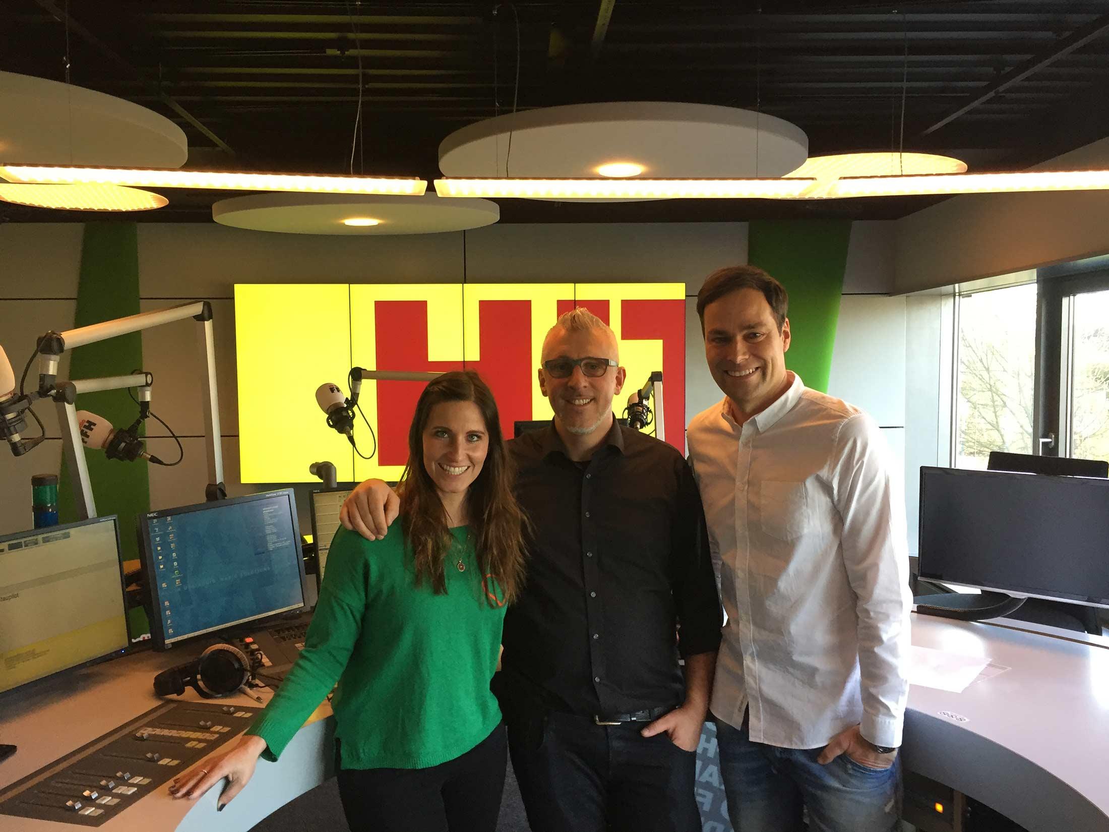 Im Interview für die Morning Show bei Radio FFH
